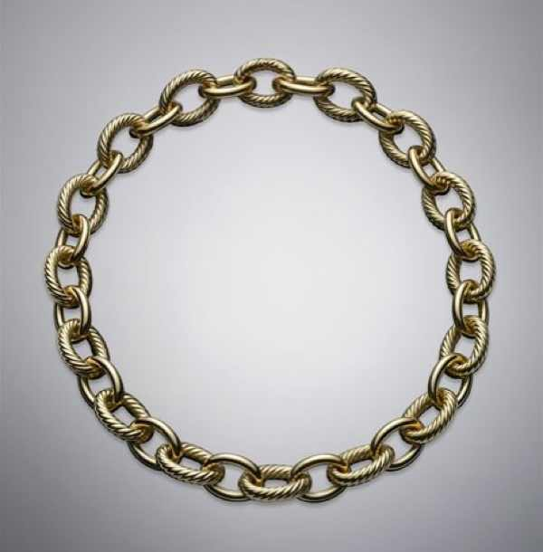 Gold Chain necklace, David Yurman