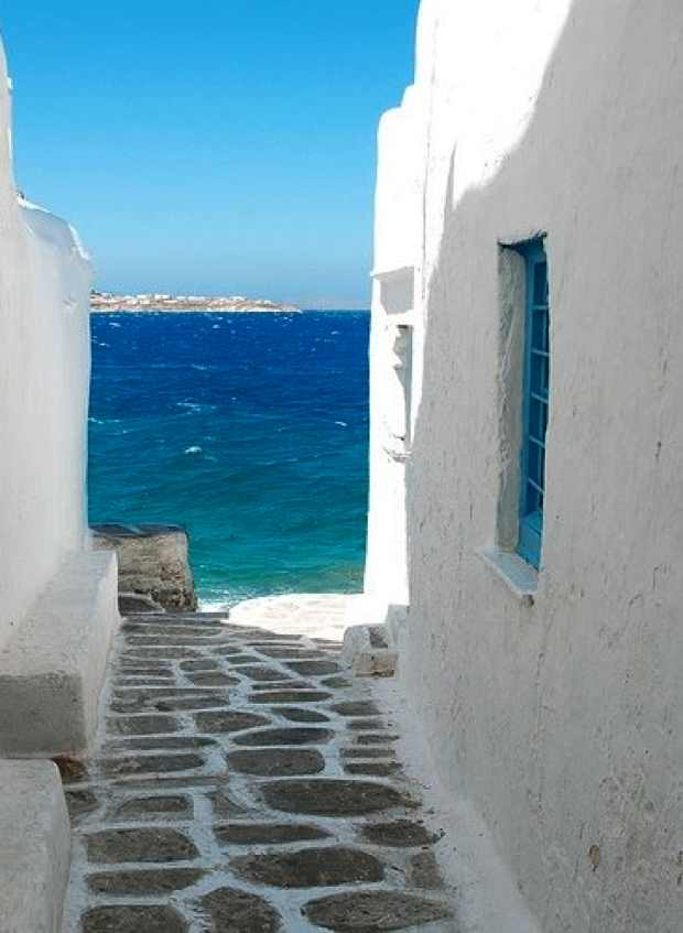Greece Cyclades Mediterranean sea