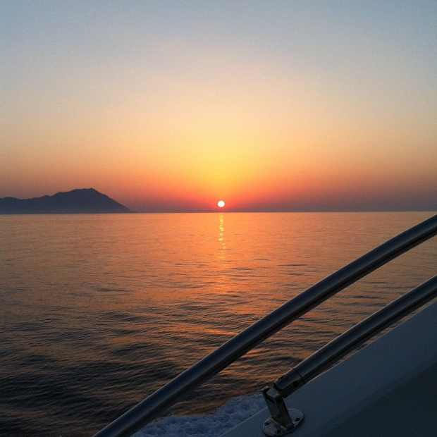 Sunset yacht Greece