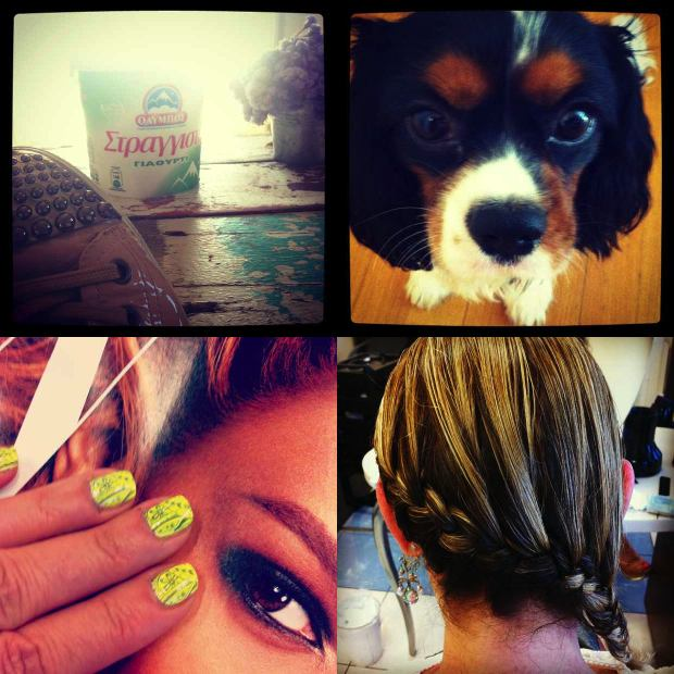Instagram Side hair braid, nails