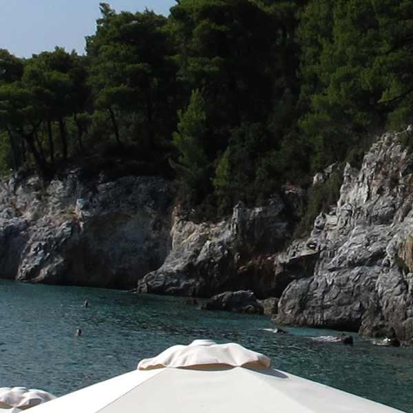Kastani, Beach Rocks, Trees
