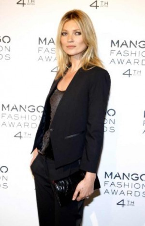 Kate Moss Boyish figure