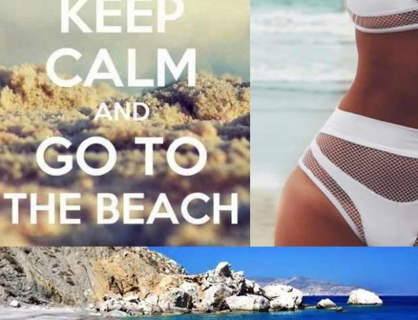 Keep Calm and go to the beach collage trendsurvivor