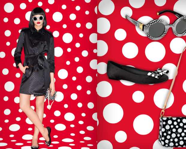 Kusama Louis Vuitton Black Red and white