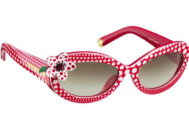 Kusama Louis Vuitton Red white sunglasses