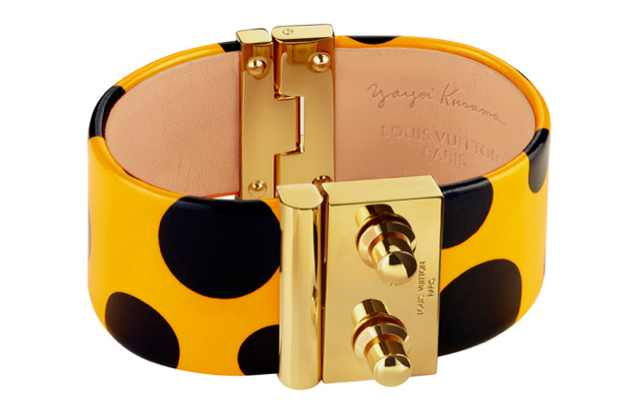 Kusama Louis Vuitton bracelet yellow Black