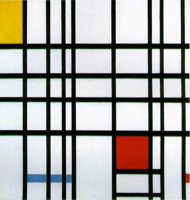 Mondrian red and yellow 1942
