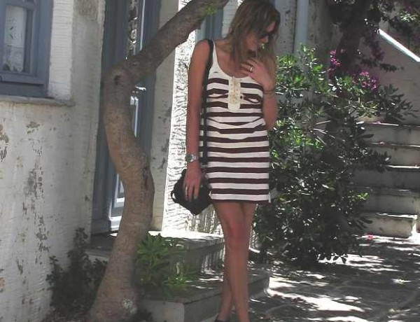 Paroikia Paros Isabel Marant striped dress