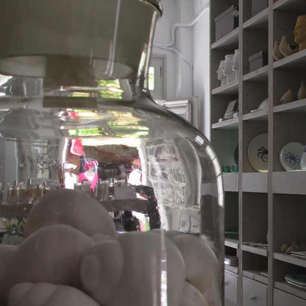 Paroikia Paros Yria Shop Ceramic salt pepper shells
