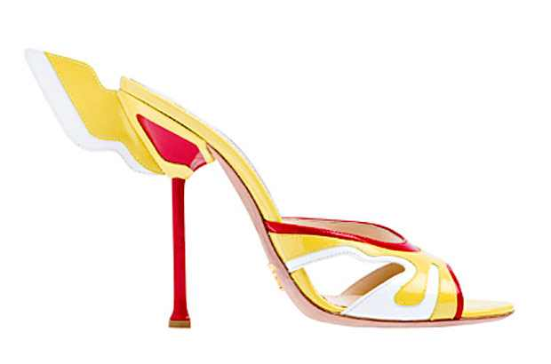Prada Spring Summer 2012, sandals red yellow