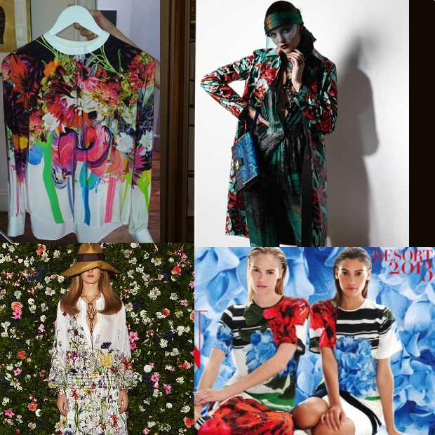 Prints Resort 2013 Collage, Preen, Gucci, Lanvin
