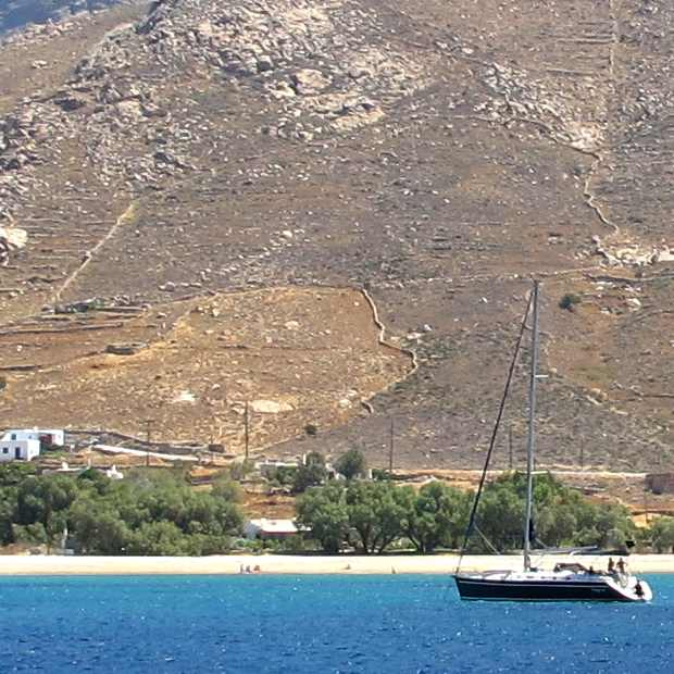 Serifos, sailing boat, sea
