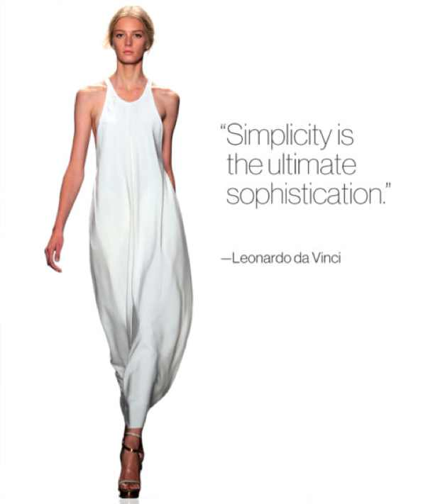 Simplicity is the ultimate sphistication