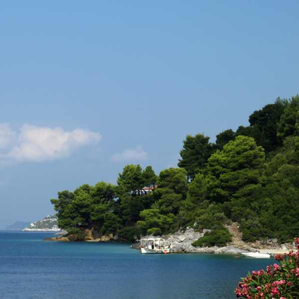 Skopelos Beach on our way to Katani