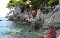 Beach Wear- Skopelos Washed Cliffs and Washed Cotton Dress