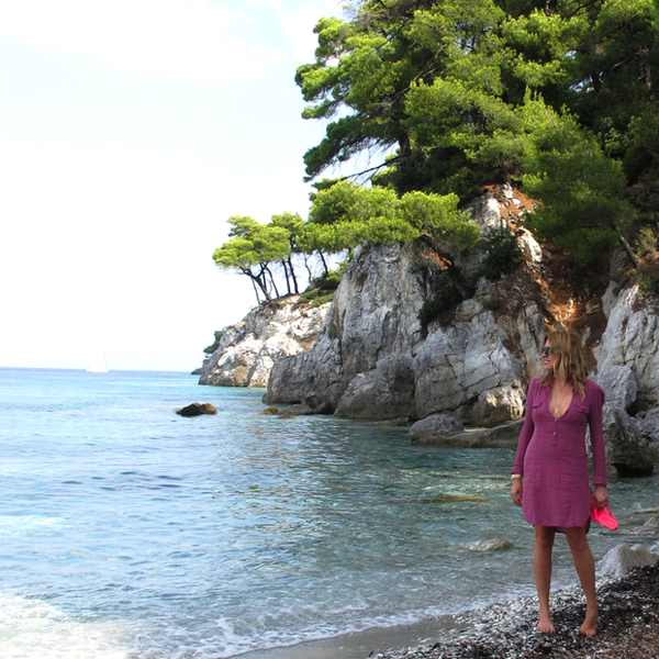 Skopelos Beach Kastani Beach Isabel Marant Dress