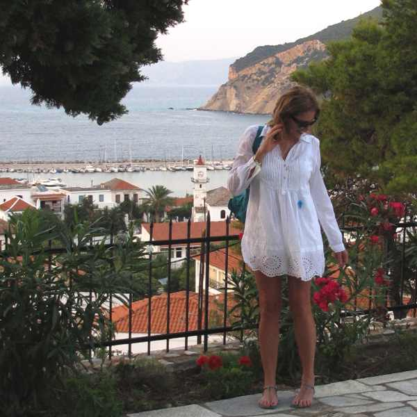 Skopelos, White Cover up summer dress,