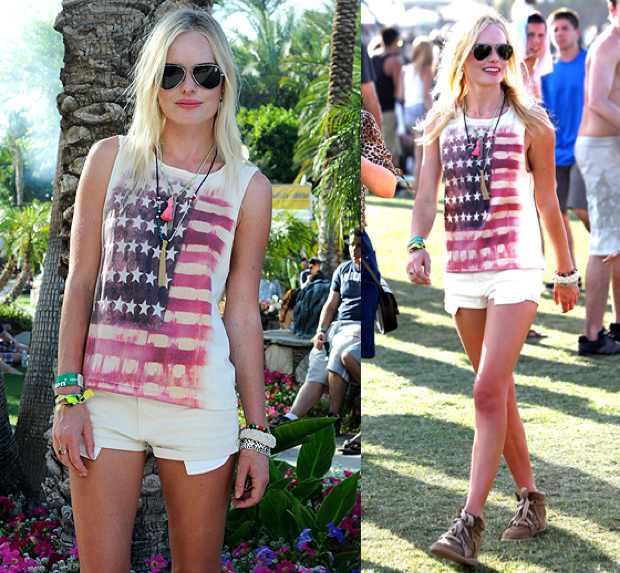 USA Flag Americana T-shirt Celebrity-american flag attire