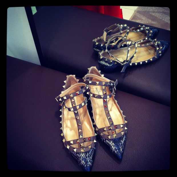 Valentino Flats studded