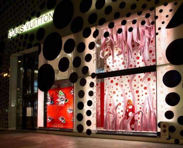 Yayoi Kusama Louis Vuitton Collaboration, window display