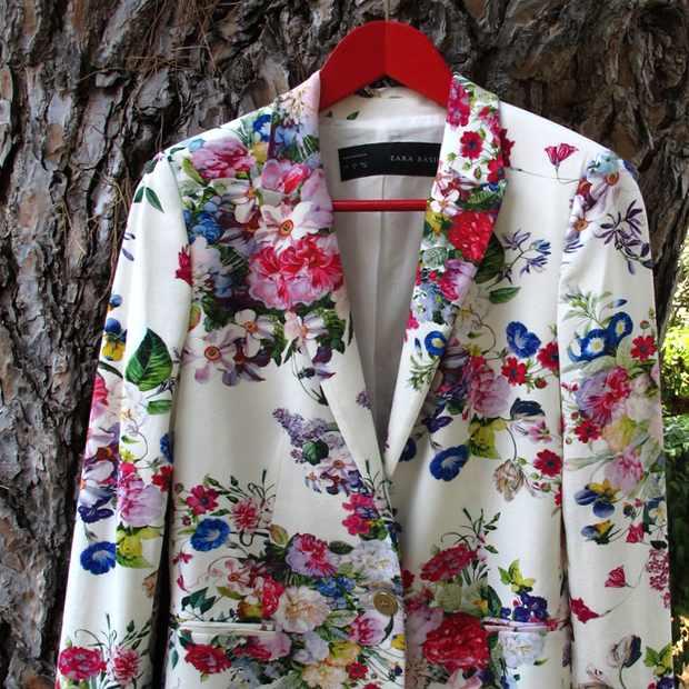 Zara Floral jacket Multicolor