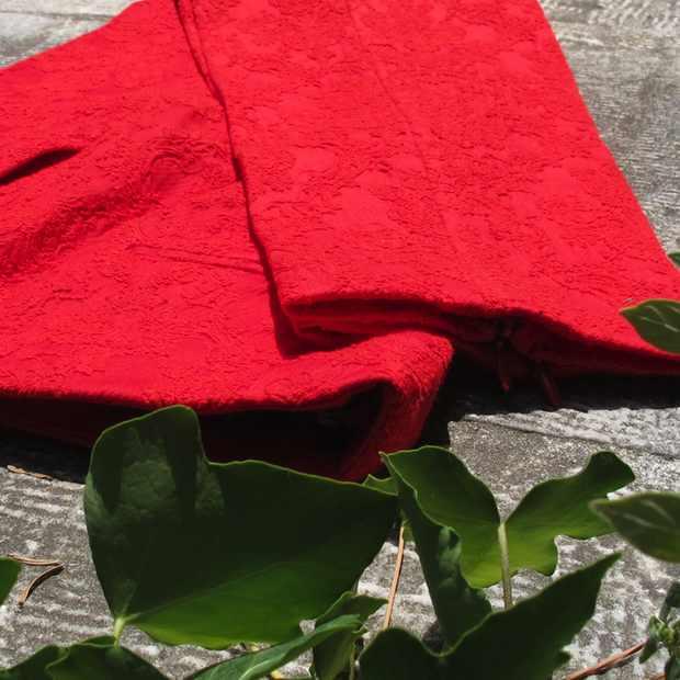 Zara Red Pants Brocade