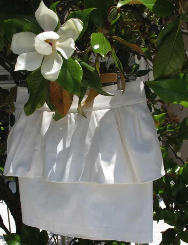 Zara peplum white skirt magnolia