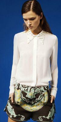 Zara shorts 2012 silk