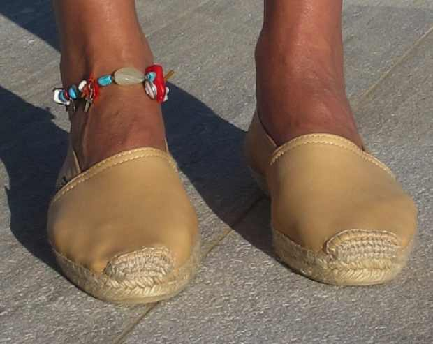 anklet byNina, espadrilles leather