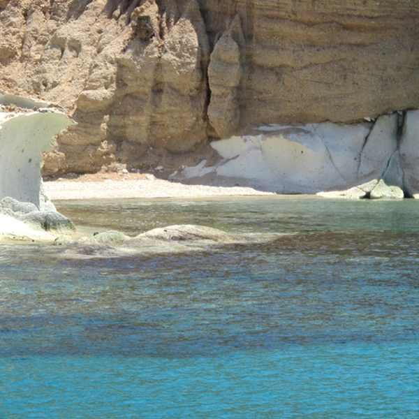 beach, sea, Poliegos, Cyclades, Greece