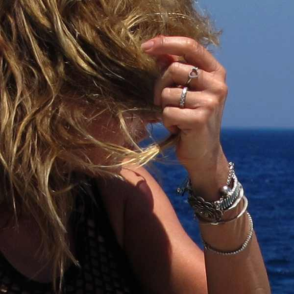 bracelets Isabel Marant Fishnet top Prada black bikini