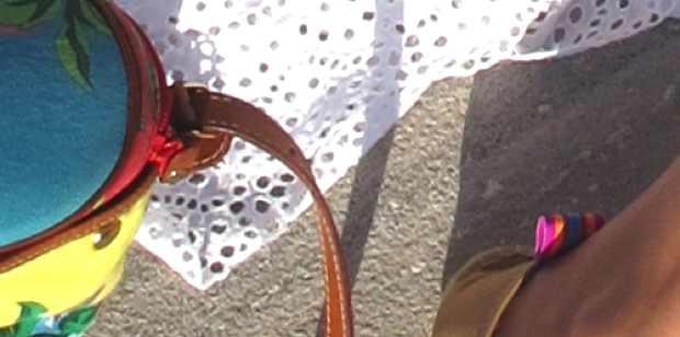 floral bag detail
