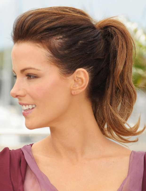 Kate-Beckinsale voluminous Ponytail