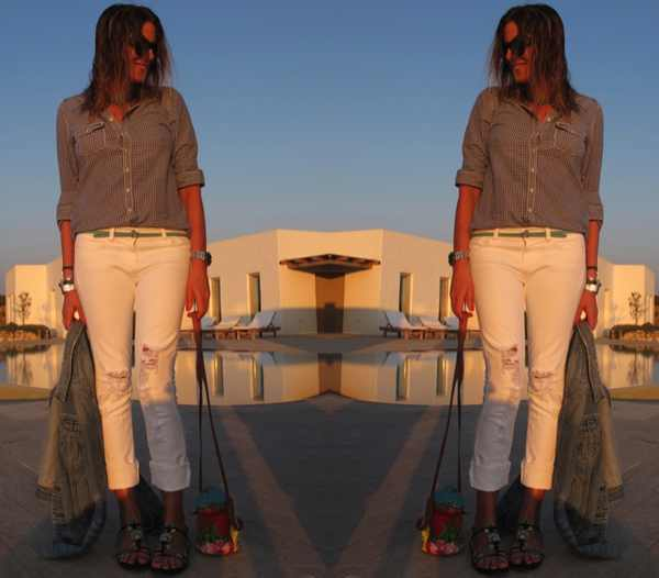 casual outfit Gilly Hicks shirt, Jbrand jeans