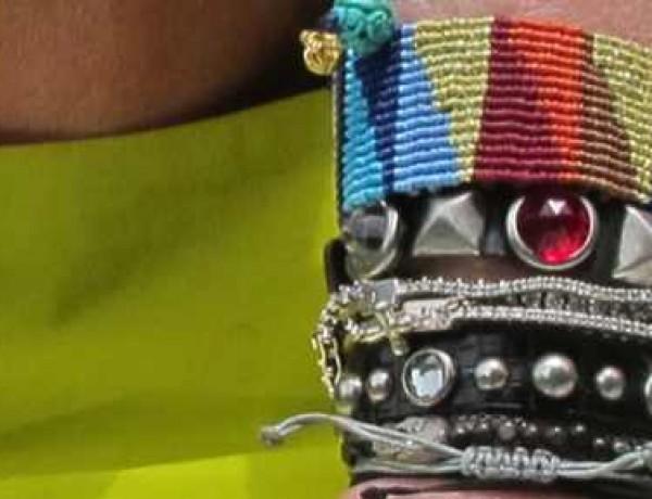 my bracelets studded leather and diamonds