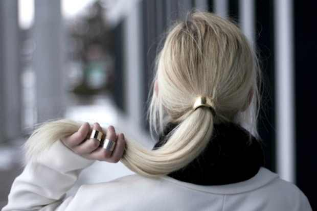 ponytail gold cuff hair clip