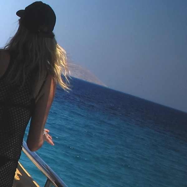 reflections Isabel Marant Fishnet top Prada black bikini