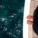 yacht, feet Isabel Marant top