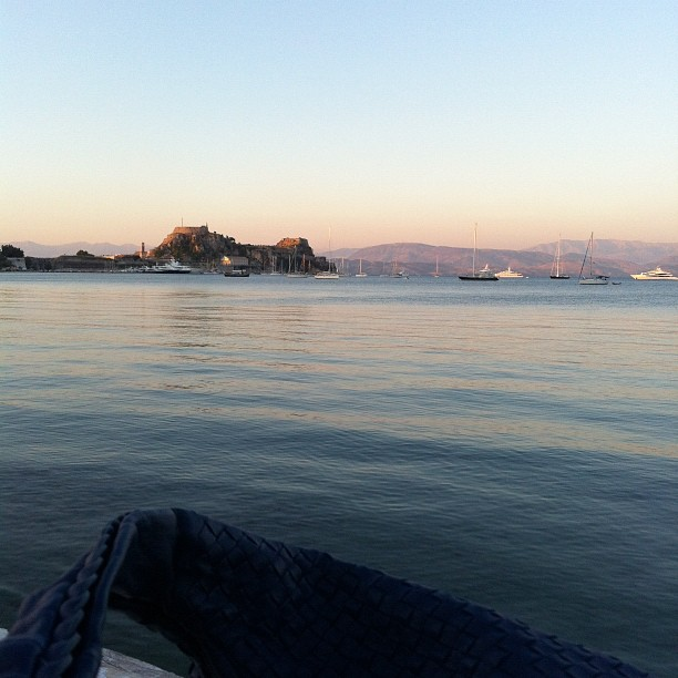 Corfu Town Sea View and Bottega Veneta Bag