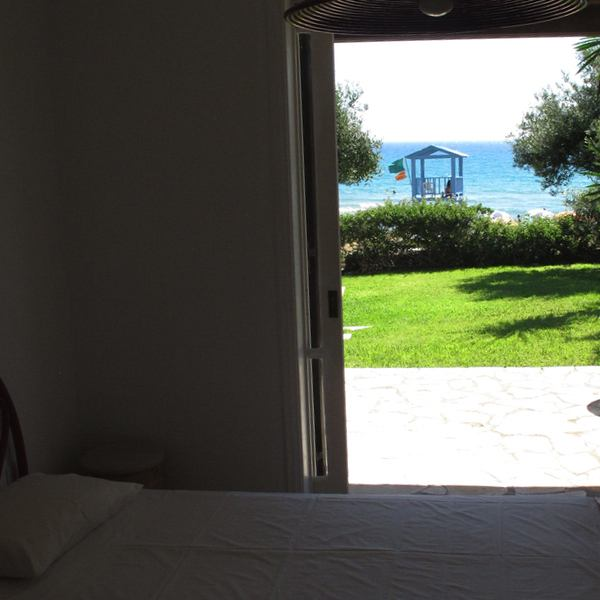 55 Corfu-Glyfada sea front villa bedroom view