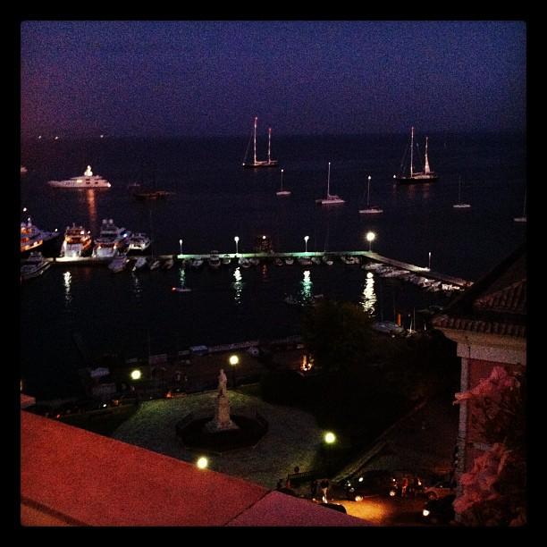 Corfu Town Port yachts