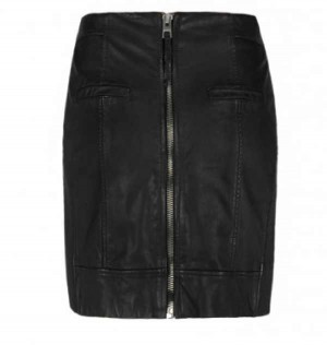 All saints pencil leather skirt