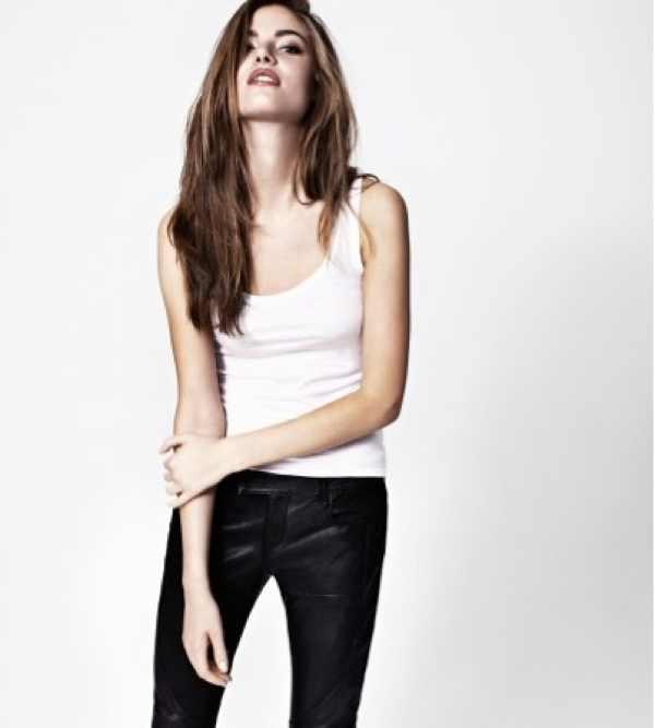 All Saints Black Biker Leather Trouser £295.00