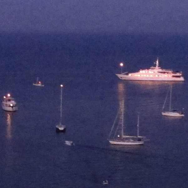 Yachts, View Cavalieri Hotel, Corfu Town