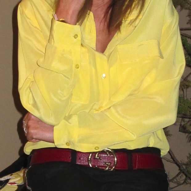Equipment-yellow shirt Isabel Marant pants