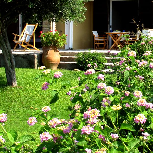 Glyfada Corfu studio villa 56 flowers