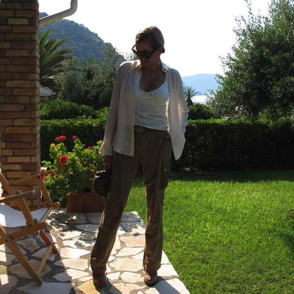 Glyfada Corfu leather cargo pants