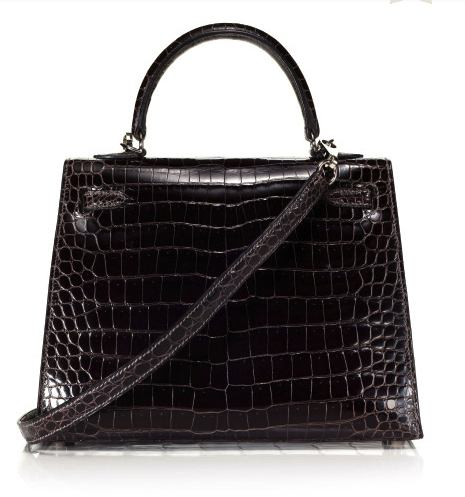 Hermes Crocodile kelly bag back view