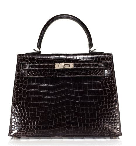 Hermes kelly Crocodile black handbag