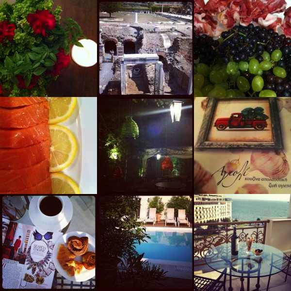 Instagram August Recap 3-1, food, Roman Ruins, Electra Palace Hotel